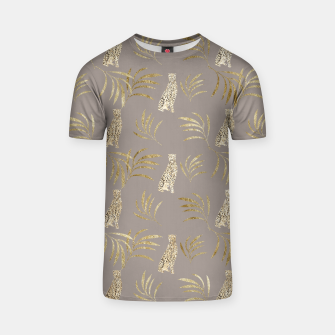 Cheetah Eucalyptus Glam Pattern #8 #tropical #decor #art T-Shirt obraz miniatury