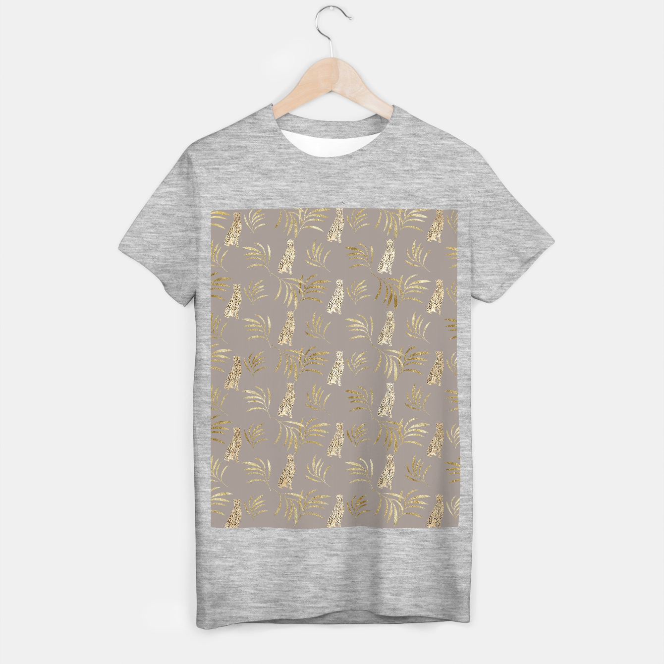 Image of Cheetah Eucalyptus Glam Pattern #8 #tropical #decor #art T-Shirt regulär - Live Heroes