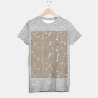 Cheetah Eucalyptus Glam Pattern #8 #tropical #decor #art T-Shirt regulär obraz miniatury