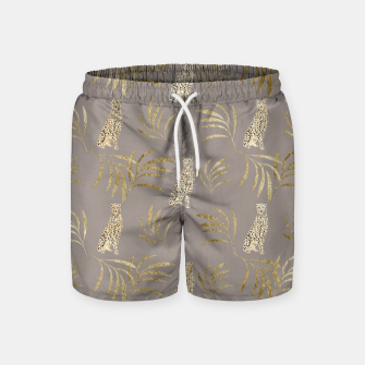 Cheetah Eucalyptus Glam Pattern #8 #tropical #decor #art Badeshorts miniature
