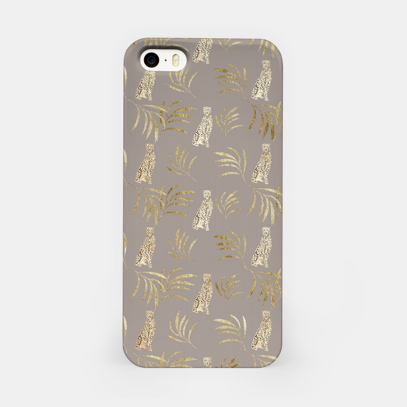 Image of Cheetah Eucalyptus Glam Pattern #8 #tropical #decor #art iPhone-Hülle - Live Heroes