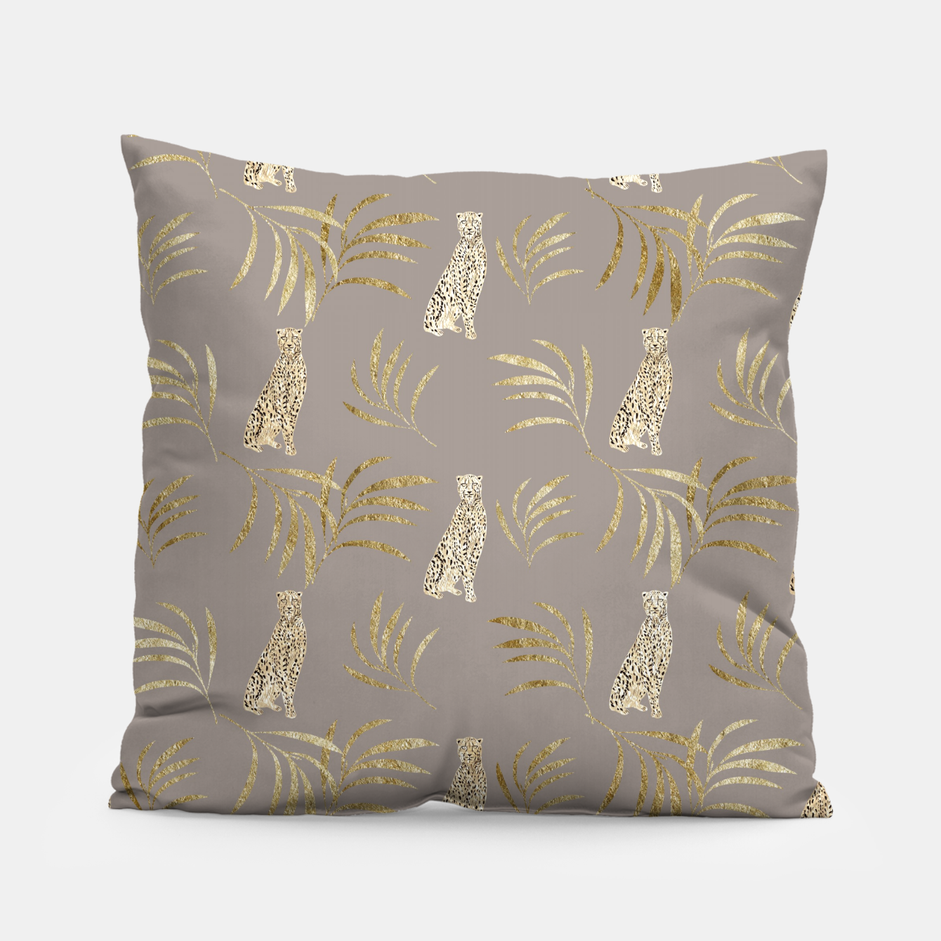 Image of Cheetah Eucalyptus Glam Pattern #8 #tropical #decor #art Kissen - Live Heroes