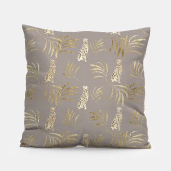 Thumbnail image of Cheetah Eucalyptus Glam Pattern #8 #tropical #decor #art Kissen, Live Heroes