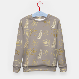 Cheetah Eucalyptus Glam Pattern #8 #tropical #decor #art Kindersweatshirt thumbnail image