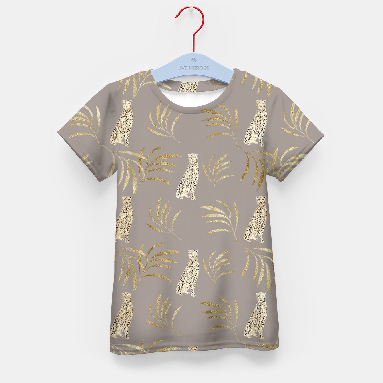 Zdjęcie Cheetah Eucalyptus Glam Pattern #8 #tropical #decor #art T-Shirt für kinder - Live Heroes