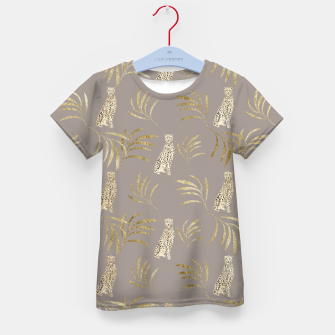 Imagen en miniatura de Cheetah Eucalyptus Glam Pattern #8 #tropical #decor #art T-Shirt für kinder, Live Heroes