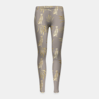 Thumbnail image of Cheetah Eucalyptus Glam Pattern #8 #tropical #decor #art Kinder-Leggins, Live Heroes