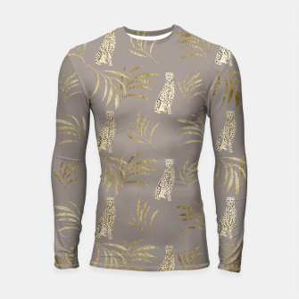Cheetah Eucalyptus Glam Pattern #8 #tropical #decor #art Longsleeve rashguard obraz miniatury