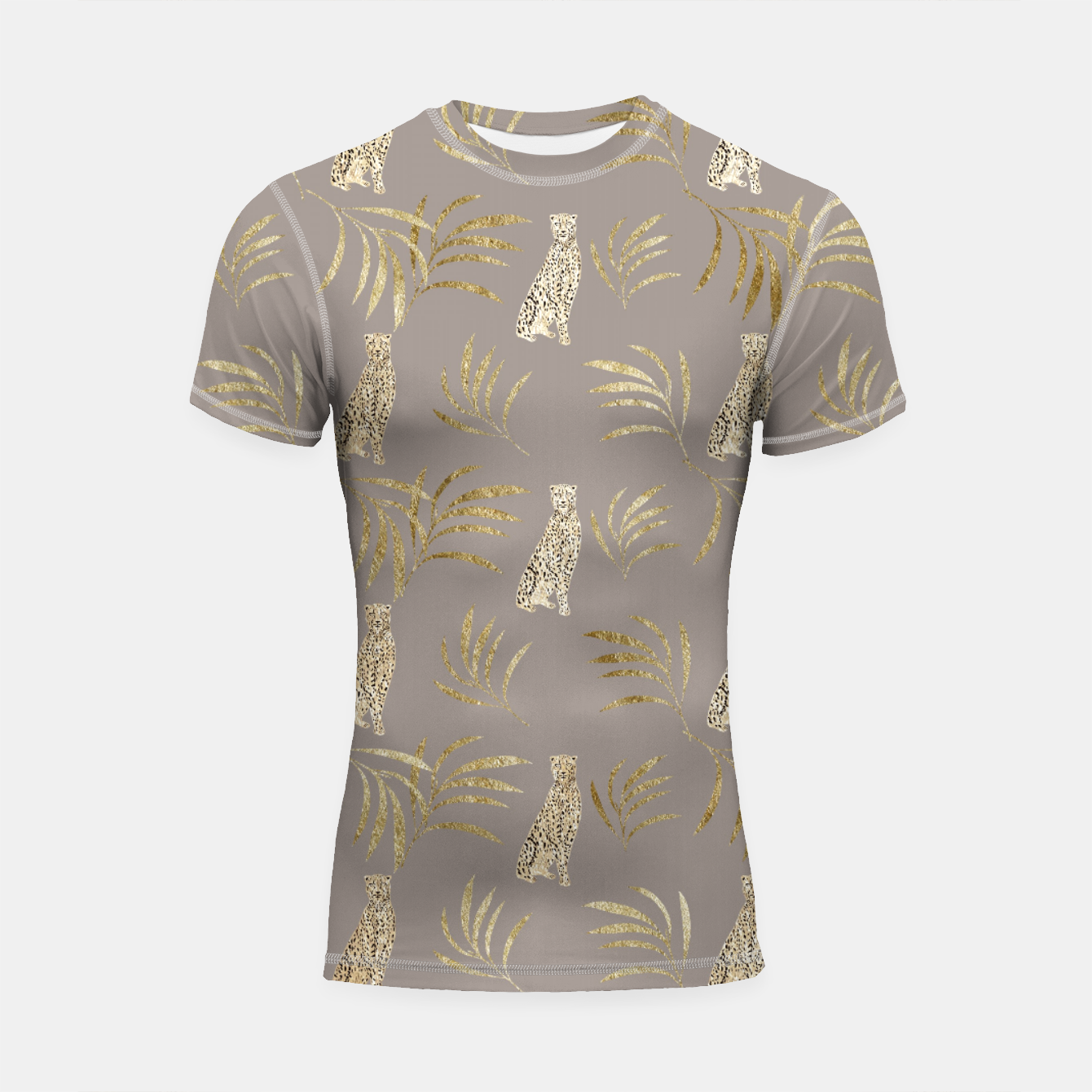 Image of Cheetah Eucalyptus Glam Pattern #8 #tropical #decor #art Shortsleeve rashguard - Live Heroes