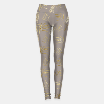 Cheetah Eucalyptus Glam Pattern #8 #tropical #decor #art Leggings obraz miniatury