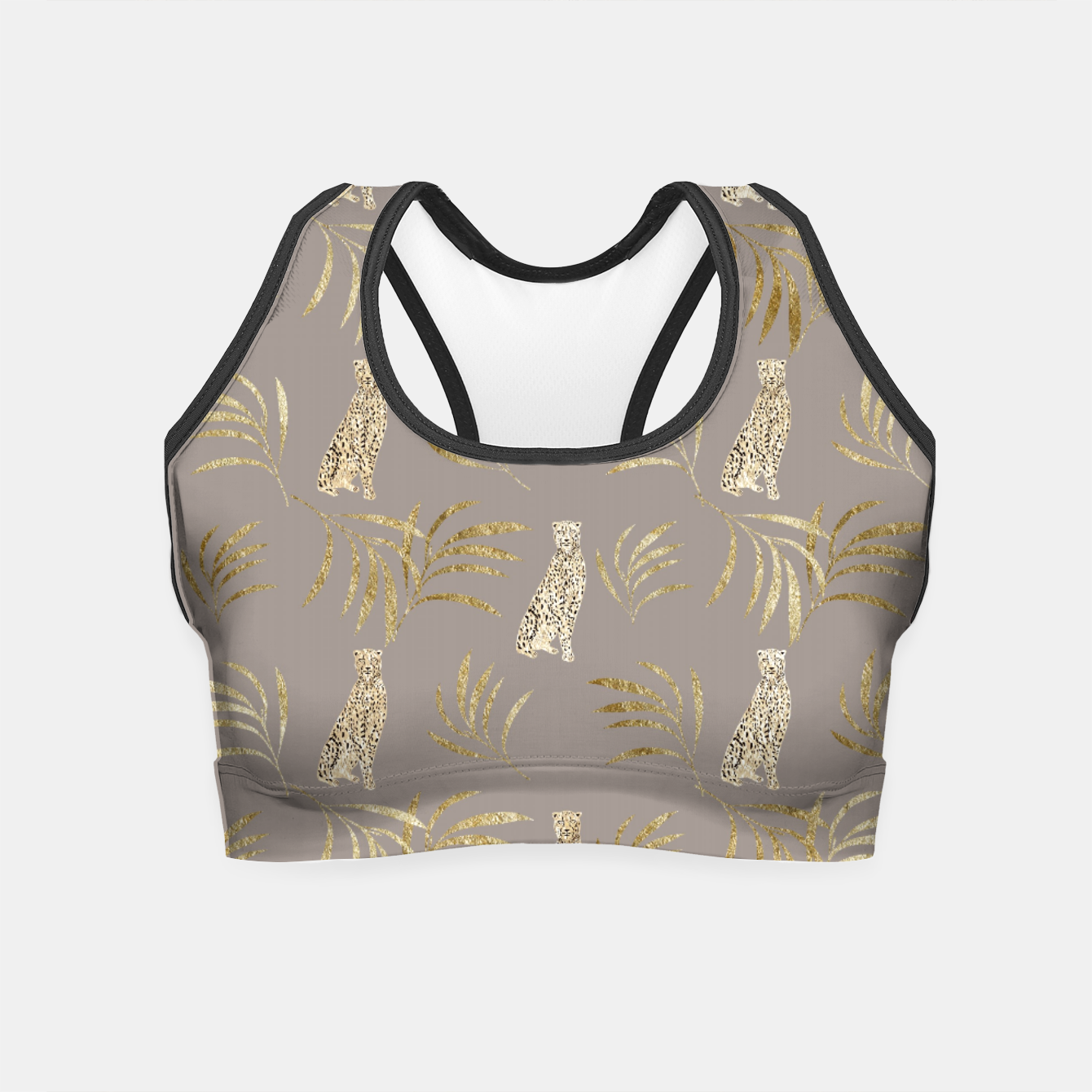 Image of Cheetah Eucalyptus Glam Pattern #8 #tropical #decor #art Crop Top - Live Heroes
