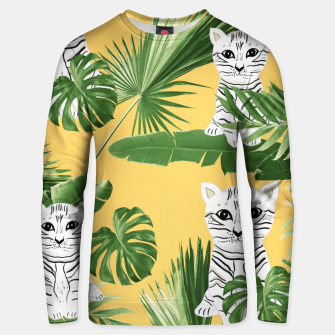Baby Cat in the Jungle #3 (Kids Collection) #tropical #animal #decor #art  Unisex sweatshirt obraz miniatury