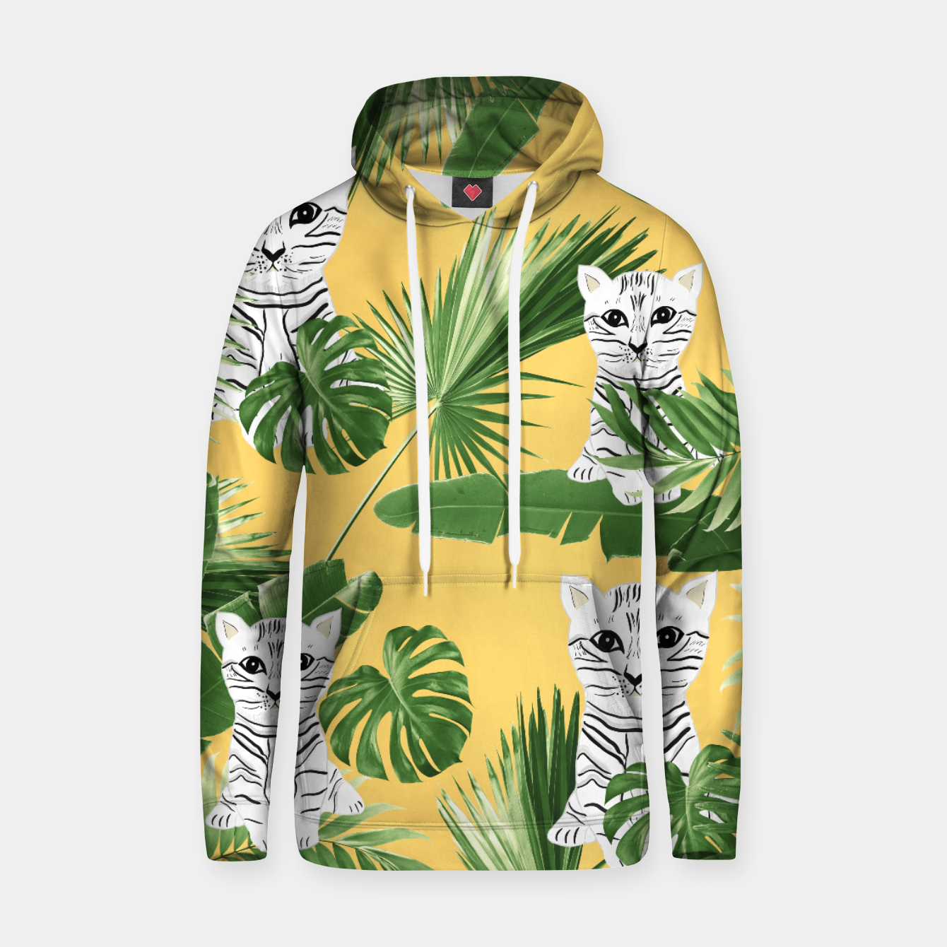 Image of Baby Cat in the Jungle #3 (Kids Collection) #tropical #animal #decor #art  Kapuzenpullover - Live Heroes