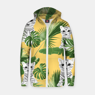 Miniatur Baby Cat in the Jungle #3 (Kids Collection) #tropical #animal #decor #art  Reißverschluss kapuzenpullover, Live Heroes