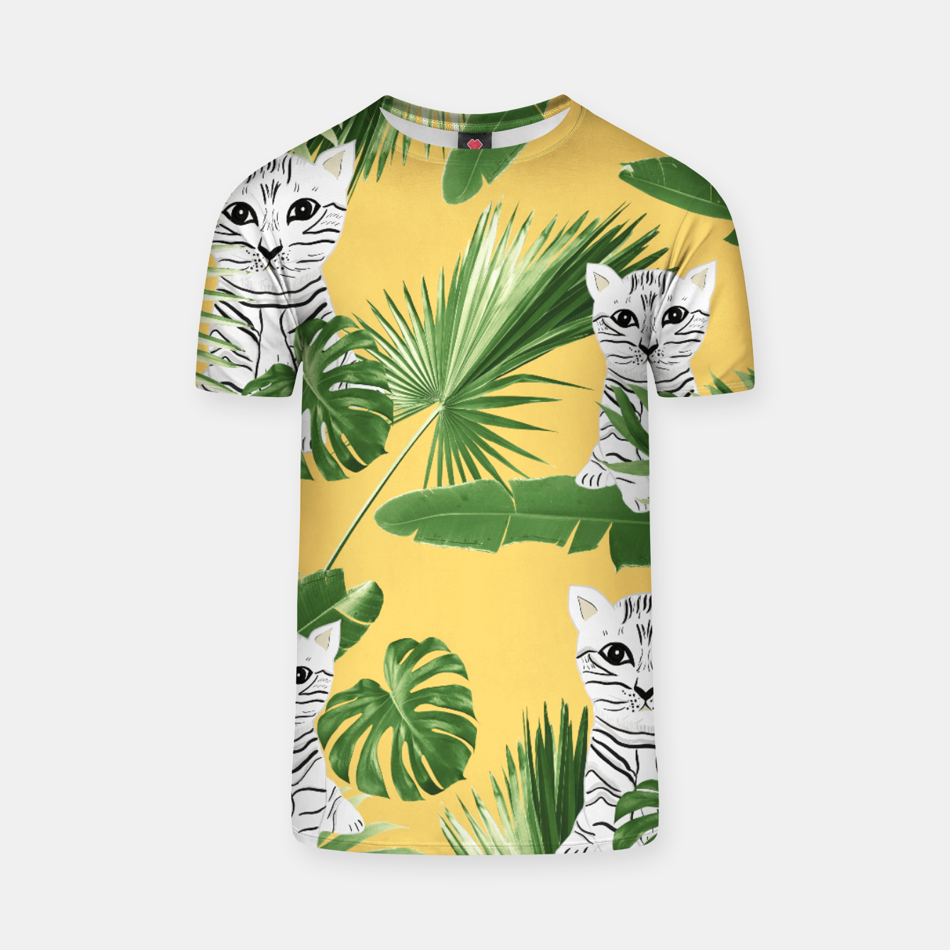 Zdjęcie Baby Cat in the Jungle #3 (Kids Collection) #tropical #animal #decor #art  T-Shirt - Live Heroes