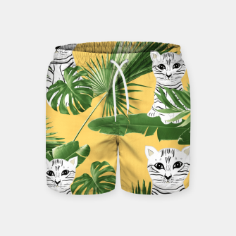 Baby Cat in the Jungle #3 (Kids Collection) #tropical #animal #decor #art  Badeshorts obraz miniatury