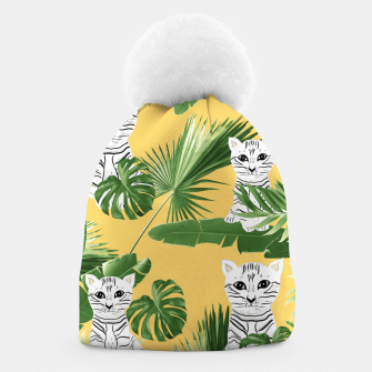 Baby Cat in the Jungle #3 (Kids Collection) #tropical #animal #decor #art  Mütze thumbnail image