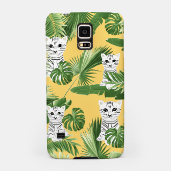 Miniatur Baby Cat in the Jungle #3 (Kids Collection) #tropical #animal #decor #art  Handyhülle für Samsung, Live Heroes
