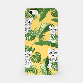 Miniatur Baby Cat in the Jungle #3 (Kids Collection) #tropical #animal #decor #art  iPhone-Hülle, Live Heroes