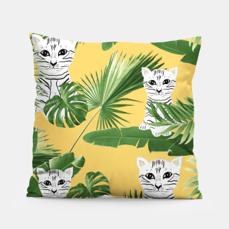Baby Cat in the Jungle #3 (Kids Collection) #tropical #animal #decor #art  Kissen obraz miniatury