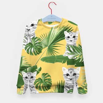 Baby Cat in the Jungle #3 (Kids Collection) #tropical #animal #decor #art  Kindersweatshirt obraz miniatury