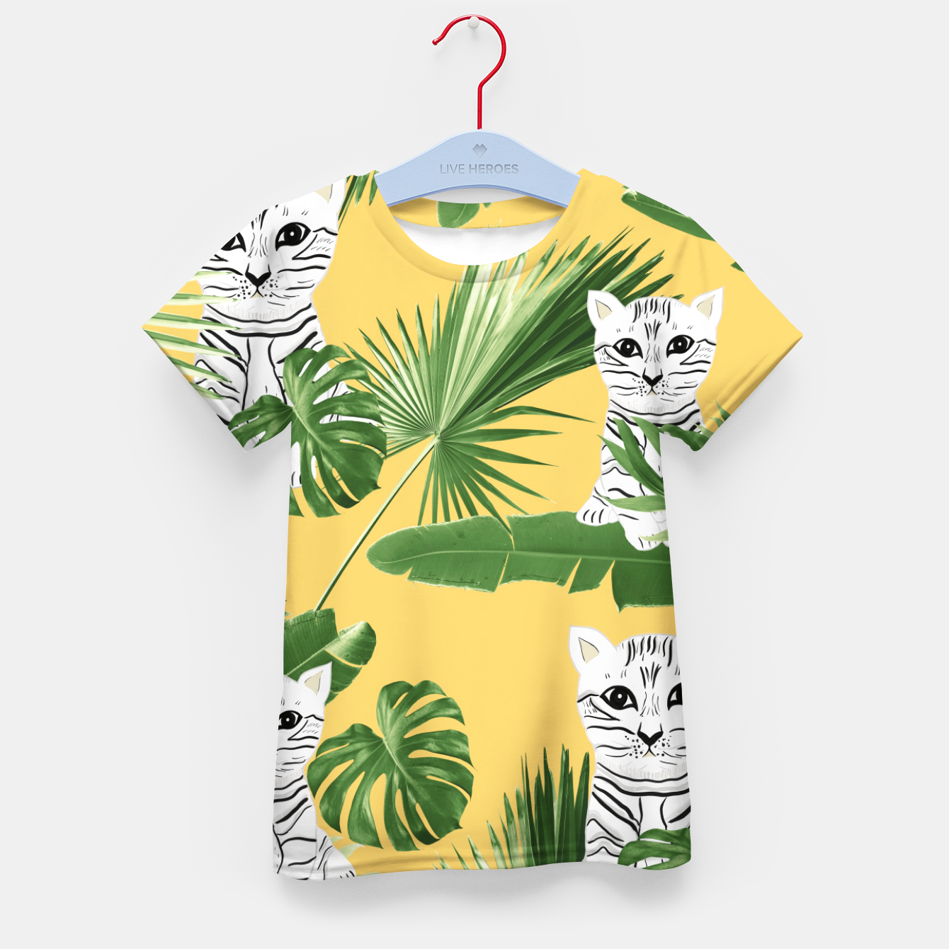 Zdjęcie Baby Cat in the Jungle #3 (Kids Collection) #tropical #animal #decor #art  T-Shirt für kinder - Live Heroes