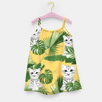 Miniaturka Baby Cat in the Jungle #3 (Kids Collection) #tropical #animal #decor #art  Mädchenkleid, Live Heroes