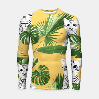 Baby Cat in the Jungle #3 (Kids Collection) #tropical #animal #decor #art  Longsleeve rashguard obraz miniatury