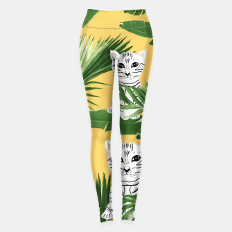 Baby Cat in the Jungle #3 (Kids Collection) #tropical #animal #decor #art  Leggings obraz miniatury