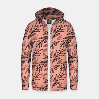 Thumbnail image of Feeling of lightness Pattern III - Melon color Zip up hoodie, Live Heroes