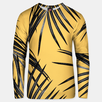 Miniatur Black Palm Leaves Dream #6 #tropical #decor #art  Unisex sweatshirt, Live Heroes