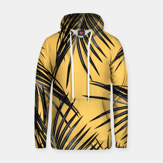 Miniatur Black Palm Leaves Dream #6 #tropical #decor #art  Kapuzenpullover, Live Heroes