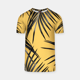 Miniatur Black Palm Leaves Dream #6 #tropical #decor #art  T-Shirt, Live Heroes