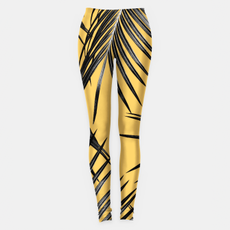 Black Palm Leaves Dream #6 #tropical #decor #art  Leggings miniature