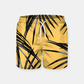 Black Palm Leaves Dream #6 #tropical #decor #art  Badeshorts miniature