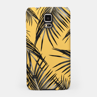 Miniatur Black Palm Leaves Dream #6 #tropical #decor #art  Handyhülle für Samsung, Live Heroes