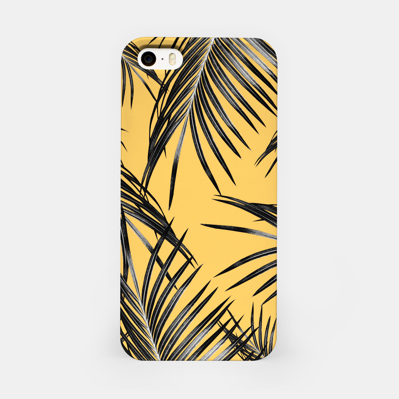 Image of Black Palm Leaves Dream #6 #tropical #decor #art  iPhone-Hülle - Live Heroes