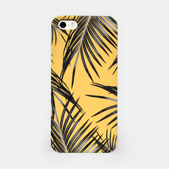 Black Palm Leaves Dream #6 #tropical #decor #art  iPhone-Hülle miniature