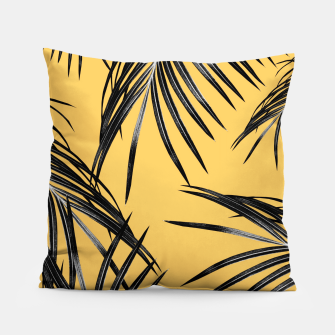 Black Palm Leaves Dream #6 #tropical #decor #art  Kissen miniature