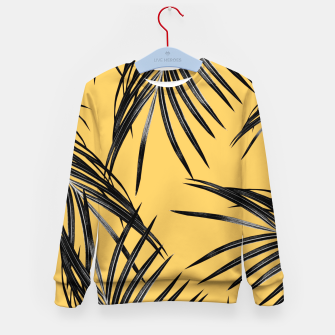 Miniatur Black Palm Leaves Dream #6 #tropical #decor #art  Kindersweatshirt, Live Heroes