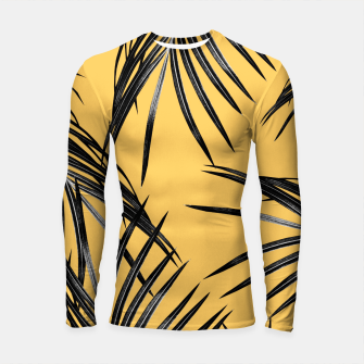 Miniaturka Black Palm Leaves Dream #6 #tropical #decor #art  Longsleeve rashguard, Live Heroes