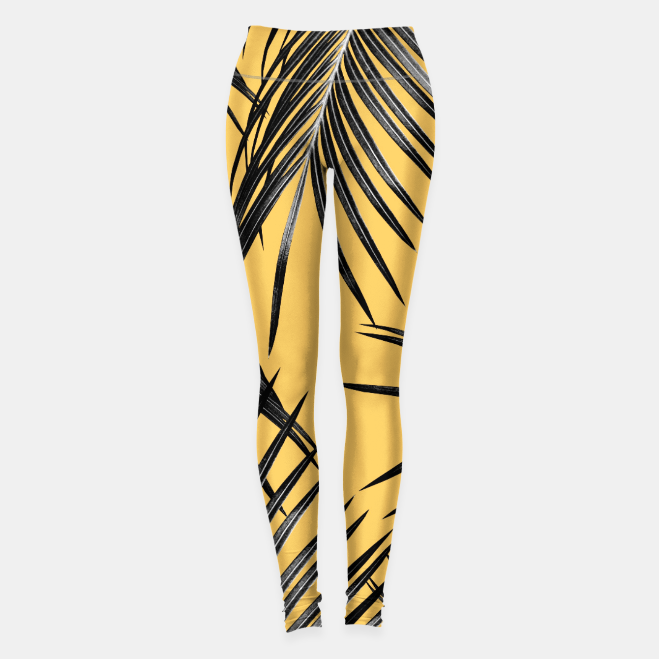 Image of Black Palm Leaves Dream #6 #tropical #decor #art  Leggings - Live Heroes