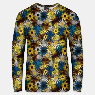 Thumbnail image of Blue and Yellow Glowing Daisies Unisex sweater, Live Heroes