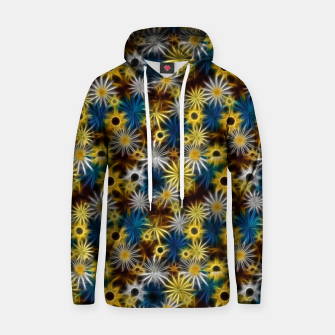 Thumbnail image of Blue and Yellow Glowing Daisies Hoodie, Live Heroes