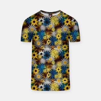 Thumbnail image of Blue and Yellow Glowing Daisies T-shirt, Live Heroes