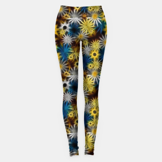 Thumbnail image of Blue and Yellow Glowing Daisies Leggings, Live Heroes