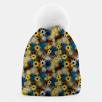Thumbnail image of Blue and Yellow Glowing Daisies Beanie, Live Heroes