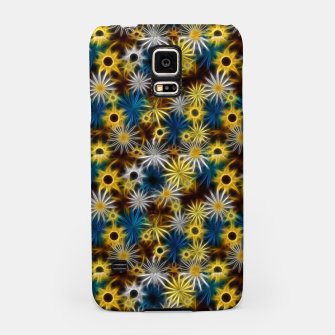 Miniatur Blue and Yellow Glowing Daisies Samsung Case, Live Heroes