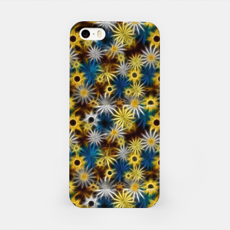 Miniatur Blue and Yellow Glowing Daisies iPhone Case, Live Heroes