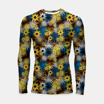 Thumbnail image of Blue and Yellow Glowing Daisies Longsleeve rashguard , Live Heroes